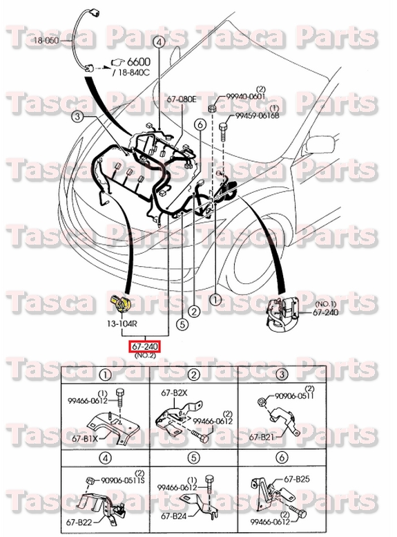 BRAND NEW OEM FRONT EMISSION WIRING HARNESS 3.7L 2009-2010