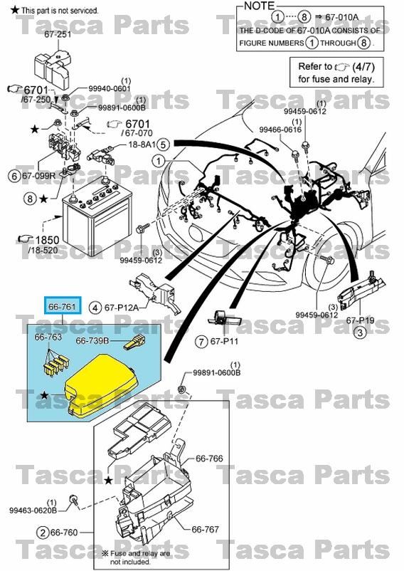 Nuevo Oem Delantero Arn U00e9s De Cableado Principal Cubierta De Bloque De Fusibles Mazda Cx5 Y 6