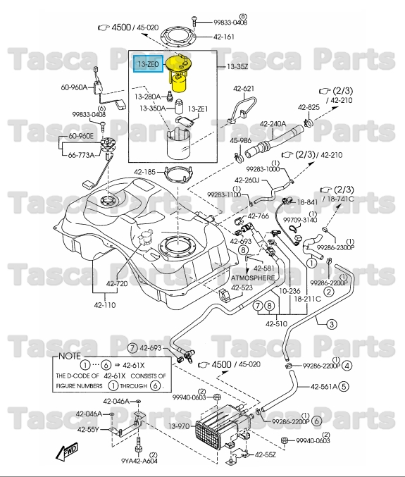 2007 mazda cx 7 fuel filter diagram