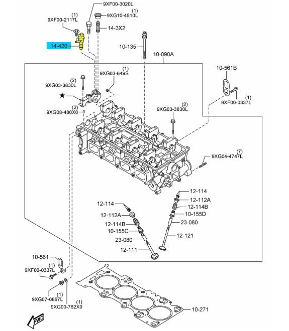 NEW OEM CYLINDER HEAD OIL CONTROL VALVE MAZDA 3 5 6 CX-7