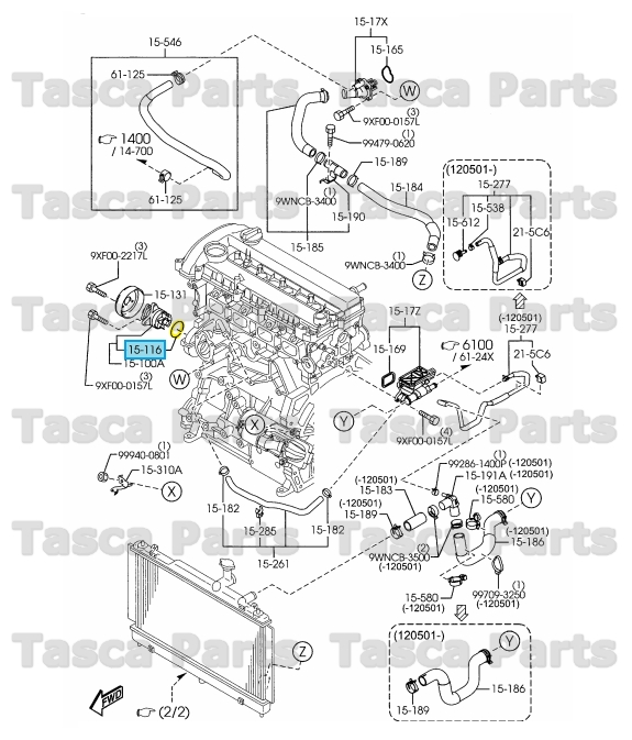 Brand New Genuine Mazda Oem Engine Water Pump Housing O Ring Lf01
