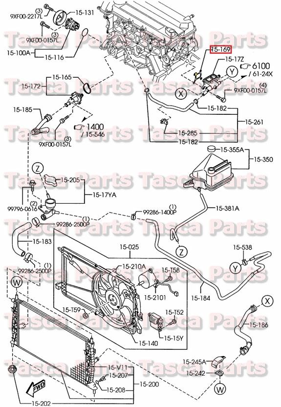 oem novo sistema de resfriamento do motor junta da sa da de gua rh ebay com 1989 Mazda B2200 Vacuum Diagram 1989 Mazda B2200 Vacuum Diagram
