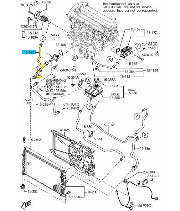 brand new oem lower coolant hose 2007 2009 mazda 3 lf50 15 185e ebay Mazda 3 Bumper Diagram mazda 3 manufacturer part number lf50 15 185e identifed in schematic if applicable