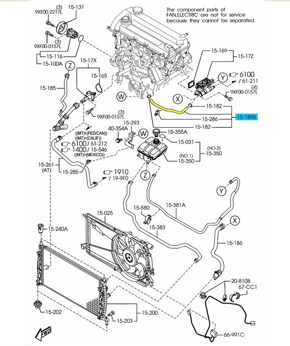 brand new oem engine coolant bypass hose 2006