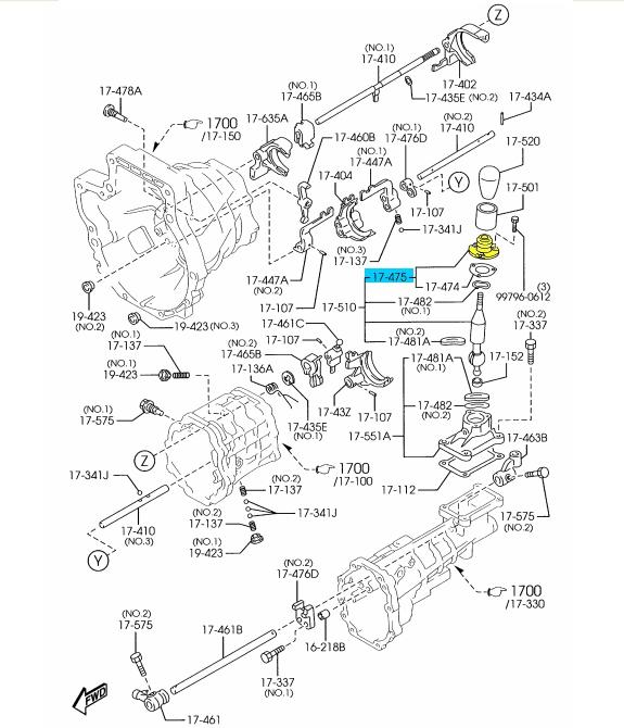 BRAND NEW OEM SHIFT DUST BOOT 1990-2005 MAZDA RX-7/MIATA/B
