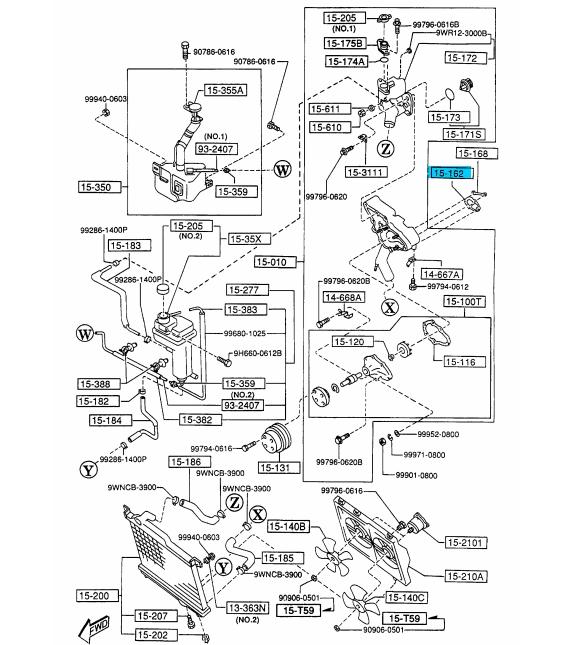BRAND NEW OEM WATER PUMP GASKET 1991-1995 MAZDA RX-7 #N386