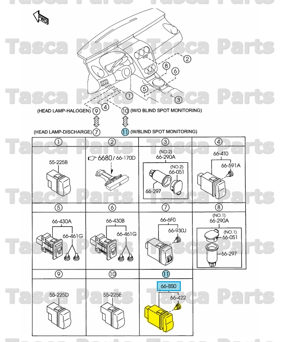 2012 Mazda Cx 9 Interior: BRAND NEW OEM BSM OFF CONTROL SWITCH 2007-2012 MAZDA CX-9