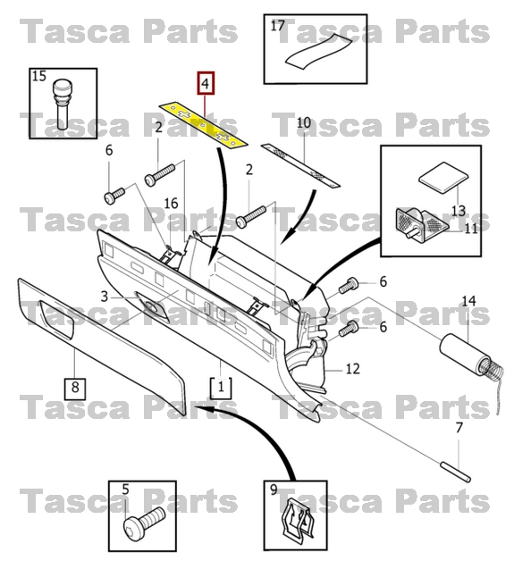 brand new oem front interior glove box latch 2003 2014 volvo xc90 Glove Box Door brand new oem front interior glove box latch