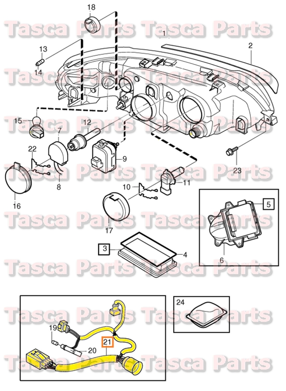 3 brand new oem headlight wiring harness 2001 2009 volvo s60 v70 volvo s60 headlight wiring harness at gsmx.co
