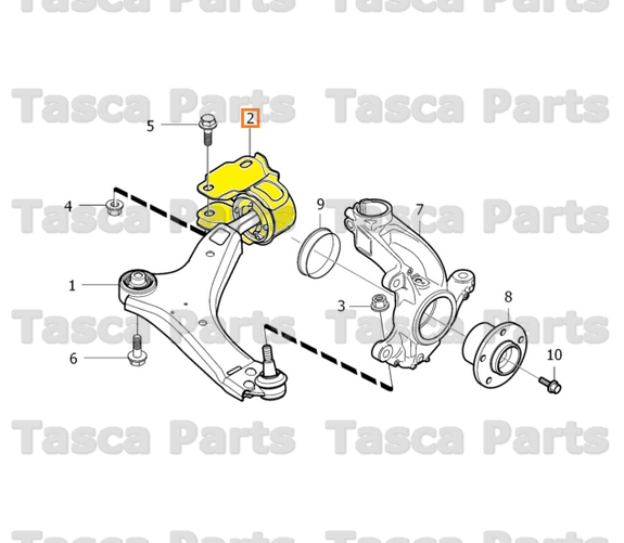 2014 Volvo S60 Transmission: NEW OEM FRONT LH SIDE LOWER CONTROL ARM BUSHING 2007-2014