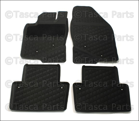 new oem gray rubber all weather floor mats 2001 2007 volvo. Black Bedroom Furniture Sets. Home Design Ideas