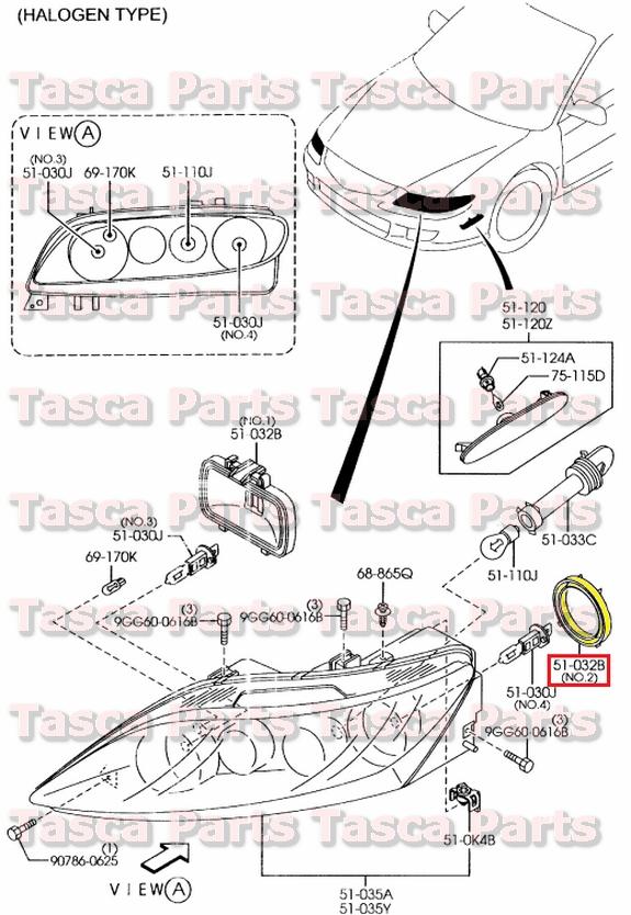 4?refresh new oem front headlight lamp socket cover 2003 2008 mazda 6 & 2006