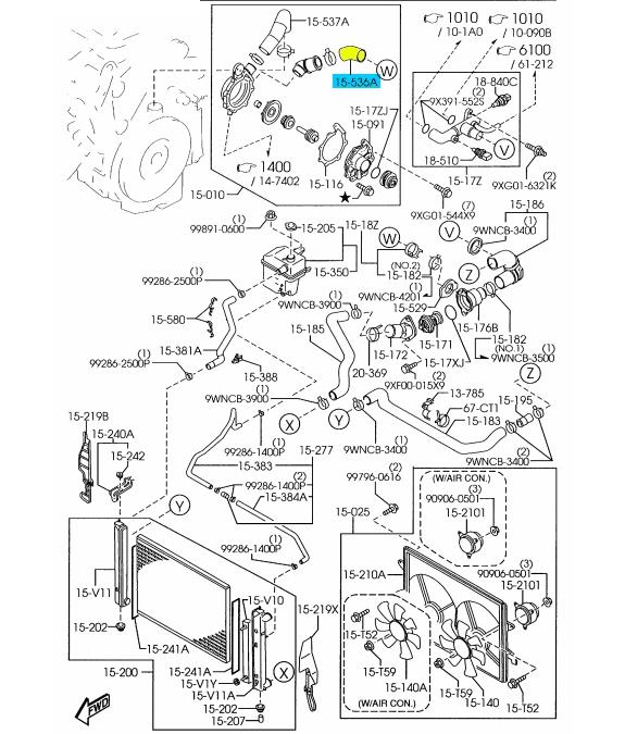 2000 Mazda Mpv Engine Coolant Diagram on Millenia Car