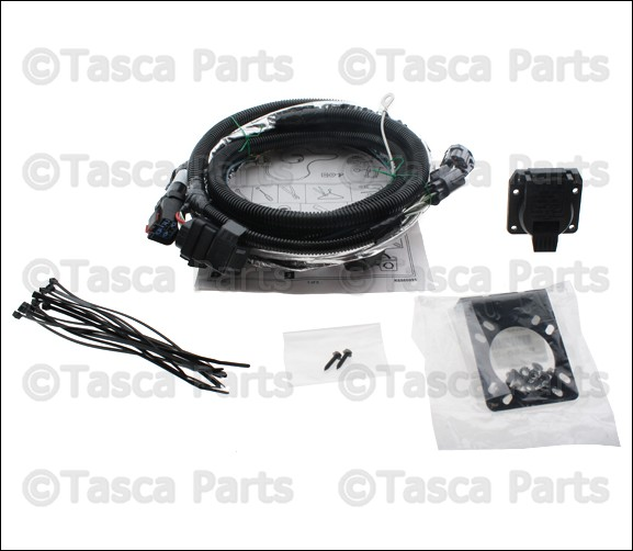 Oem mopar way trailer tow hitch wiring harness kit